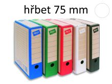 HIT OFFICE Archivační krabice BOARD COLOUR A4, hřbet 7,5 cm - bílá